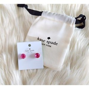 Nwt kate spade gumdrop pink earrings